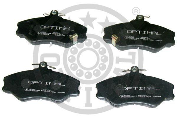 Kit de plaquettes de frein, frein à disque - OPTIMAL - 9955
