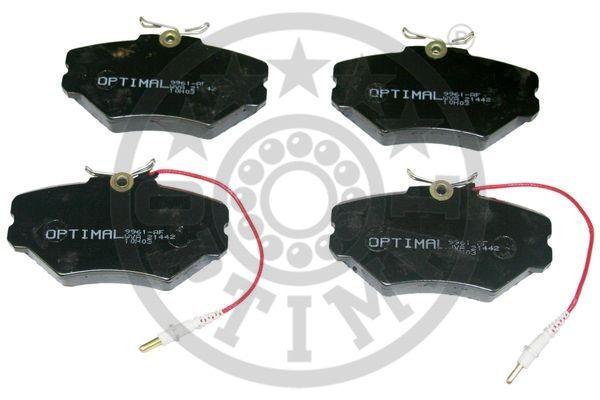 Kit de plaquettes de frein, frein à disque - OPTIMAL - 9961