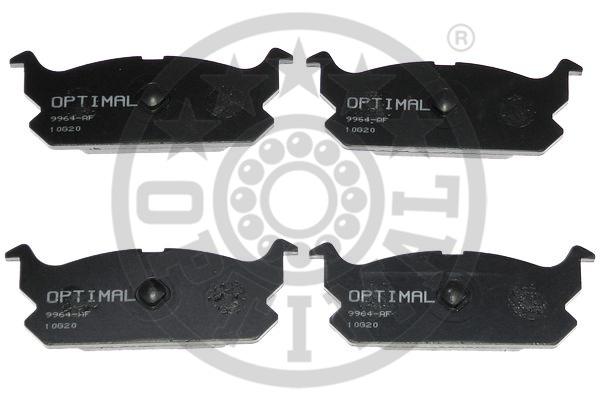 Kit de plaquettes de frein, frein à disque - OPTIMAL - 9964