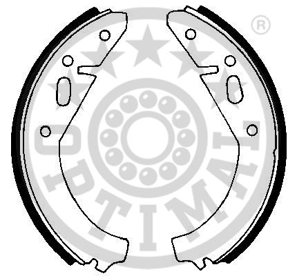 Jeu de mâchoires de frein - OPTIMAL - BB-0030