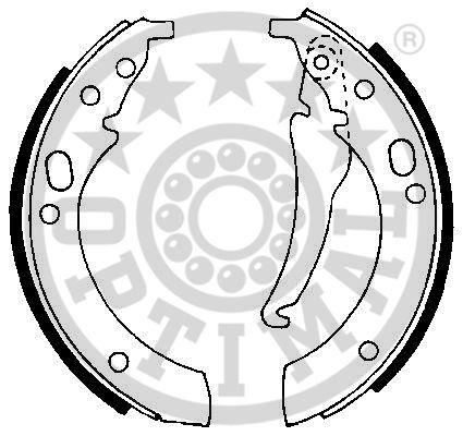 Jeu de mâchoires de frein - OPTIMAL - BB-0180