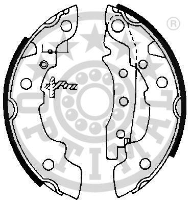 Jeu de mâchoires de frein - OPTIMAL - BB-0380