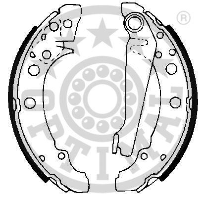Jeu de mâchoires de frein - OPTIMAL - BB-0450