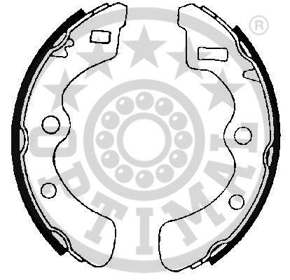 Jeu de mâchoires de frein - OPTIMAL - BB-0610