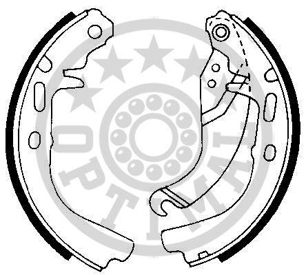 Jeu de mâchoires de frein - OPTIMAL - BB-0650