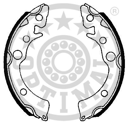 Jeu de mâchoires de frein - OPTIMAL - BB-0960