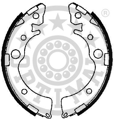 Jeu de mâchoires de frein - OPTIMAL - BB-0961