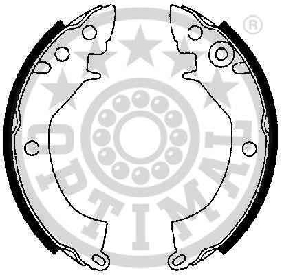 Jeu de mâchoires de frein - OPTIMAL - BB-1570