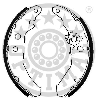 Jeu de mâchoires de frein - OPTIMAL - BB-1850