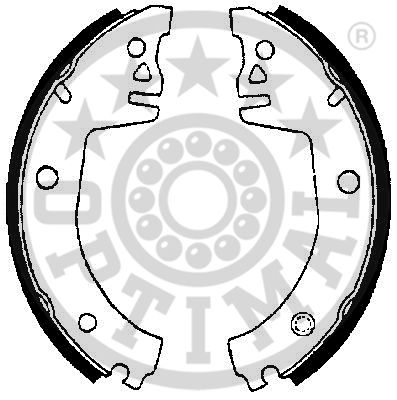 Jeu de mâchoires de frein - OPTIMAL - BB-1980