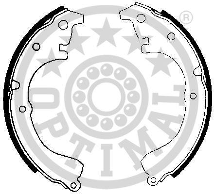 Jeu de mâchoires de frein - OPTIMAL - BB-3330