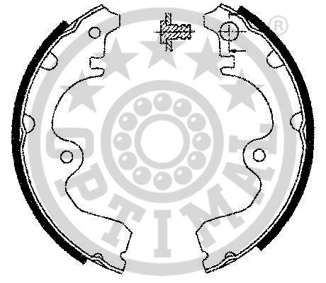 Jeu de mâchoires de frein - OPTIMAL - BB-3341