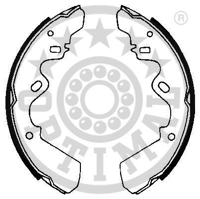 Jeu de mâchoires de frein - OPTIMAL - BB-3370