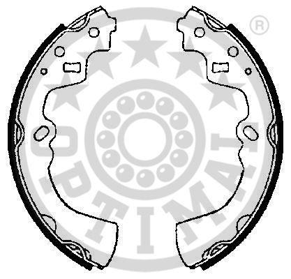 Jeu de mâchoires de frein - OPTIMAL - BB-3620
