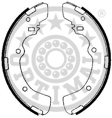 Jeu de mâchoires de frein - OPTIMAL - BB-3790