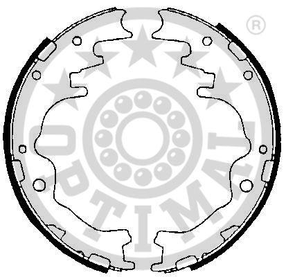 Jeu de mâchoires de frein - OPTIMAL - BB-3881