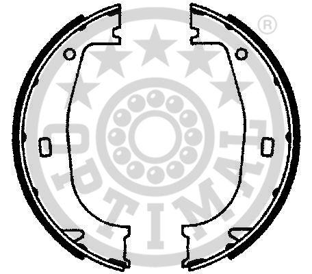 Jeu de mâchoires de frein, frein de stationnement - OPTIMAL - BB-4060