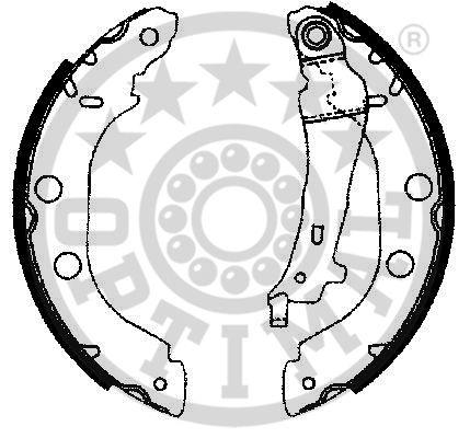 Jeu de mâchoires de frein - OPTIMAL - BB-4150