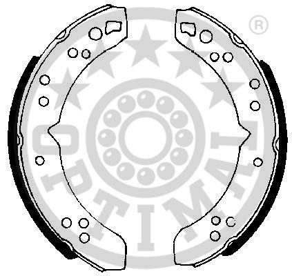 Jeu de mâchoires de frein - OPTIMAL - BB-6210