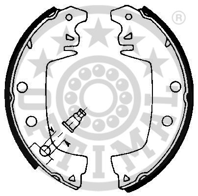 Jeu de mâchoires de frein - OPTIMAL - BB-6551
