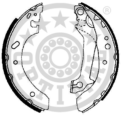 Jeu de mâchoires de frein - OPTIMAL - BB-6700