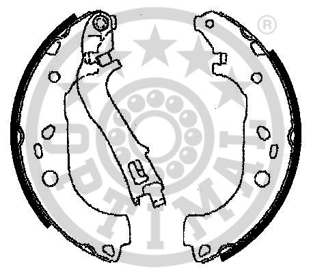 Jeu de mâchoires de frein - OPTIMAL - BB-7230