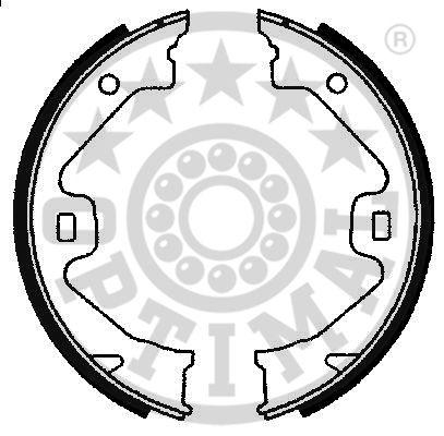 Jeu de mâchoires de frein - OPTIMAL - BB-7237