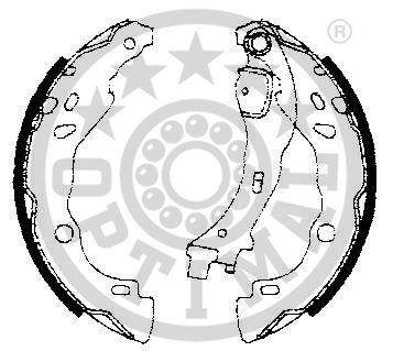 Jeu de mâchoires de frein - OPTIMAL - BB-7238