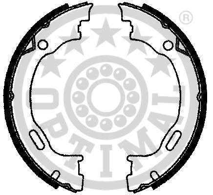 Jeu de mâchoires de frein, frein de stationnement - OPTIMAL - BB-7242