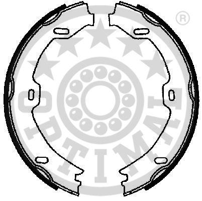 Jeu de mâchoires de frein, frein de stationnement - OPTIMAL - BB-7244