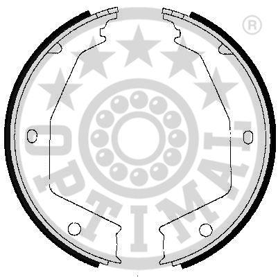 Jeu de mâchoires de frein - OPTIMAL - BB-7248