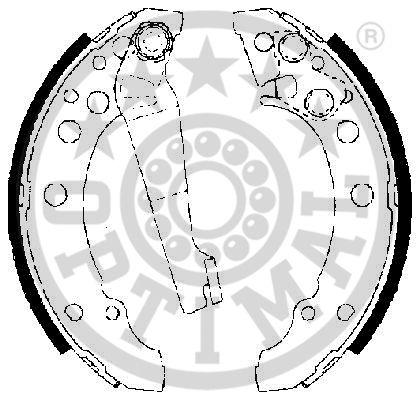 Jeu de mâchoires de frein - OPTIMAL - BB-7256