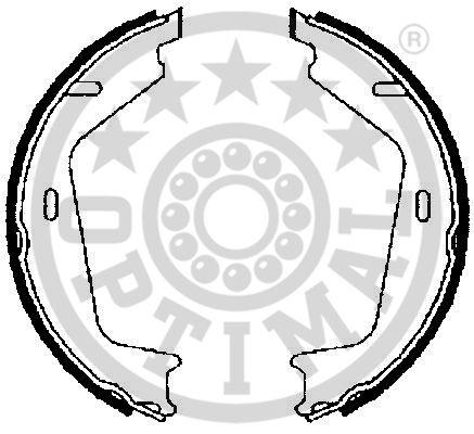 Jeu de mâchoires de frein, frein de stationnement - OPTIMAL - BB-7258