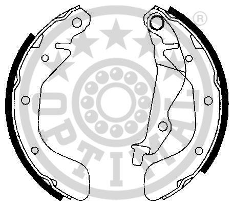 Jeu de mâchoires de frein - OPTIMAL - BB-7259