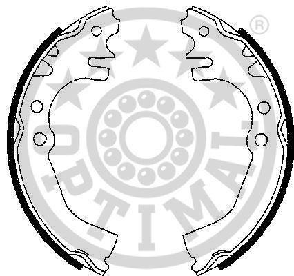 Jeu de mâchoires de frein - OPTIMAL - BB-7260