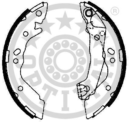 Jeu de mâchoires de frein - OPTIMAL - BB-7264