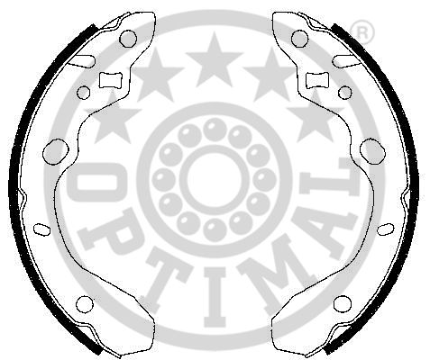 Jeu de mâchoires de frein - OPTIMAL - BB-7279