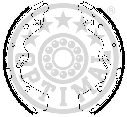 Jeu de mâchoires de frein - OPTIMAL - BB-7282