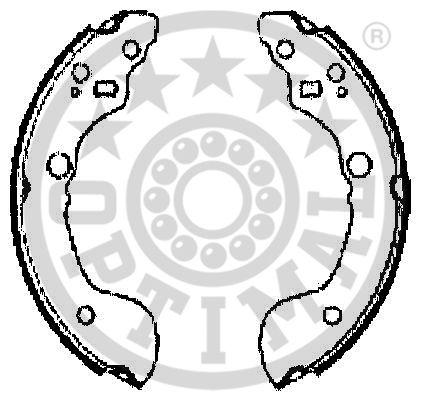 Jeu de mâchoires de frein - OPTIMAL - BB-7286