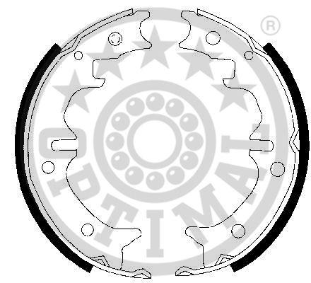 Jeu de mâchoires de frein, frein de stationnement - OPTIMAL - BB-7302