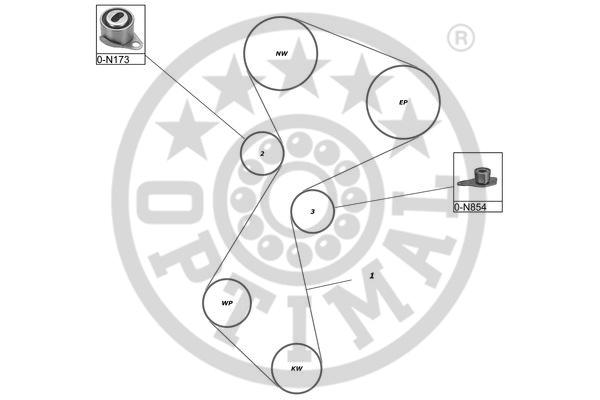 Kit de distribution - OPTIMAL - SK-1012