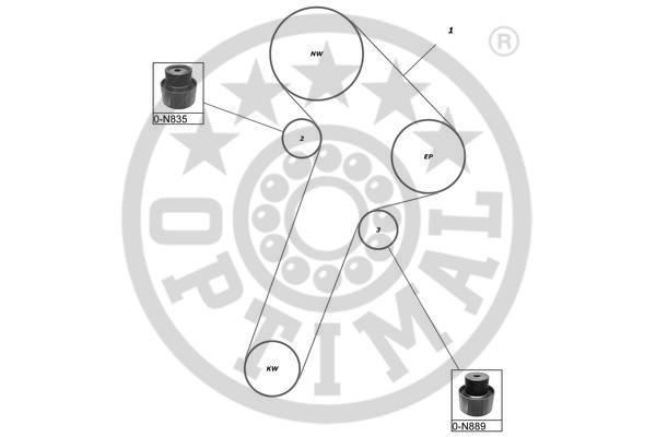 Kit de distribution - OPTIMAL - SK-1033