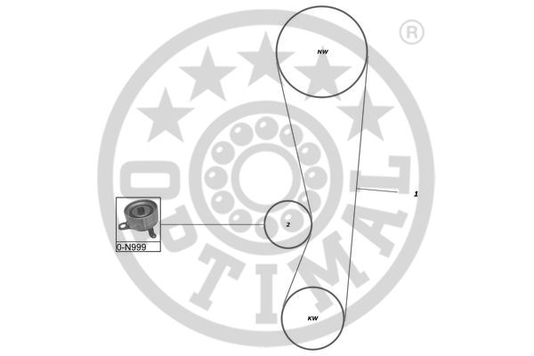 Kit de distribution - OPTIMAL - SK-1075