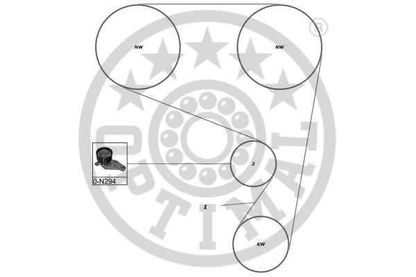 Kit de distribution - OPTIMAL - SK-1077