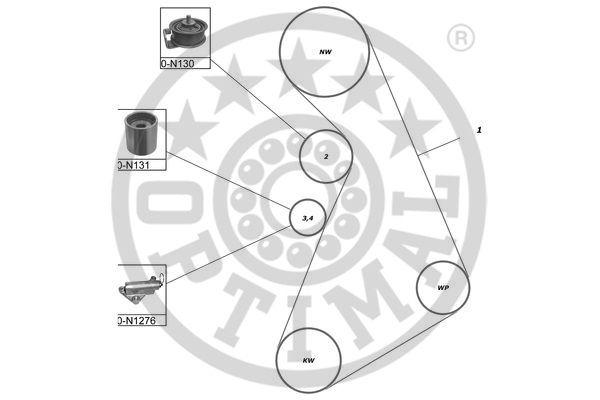 Kit de distribution - OPTIMAL - SK-1121