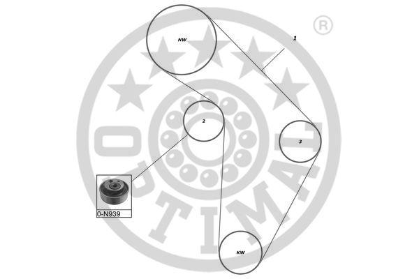 Kit de distribution - OPTIMAL - SK-1130