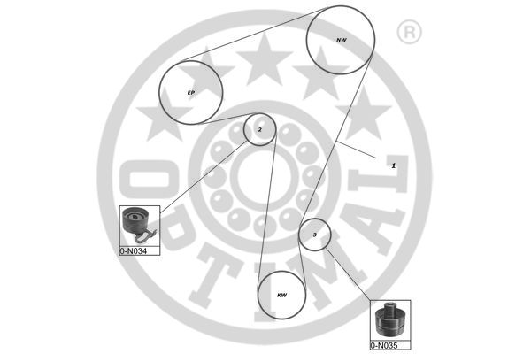 Kit de distribution - OPTIMAL - SK-1210