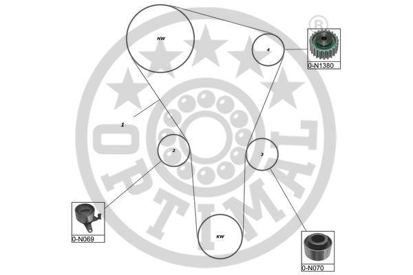 Kit de distribution - OPTIMAL - SK-1233