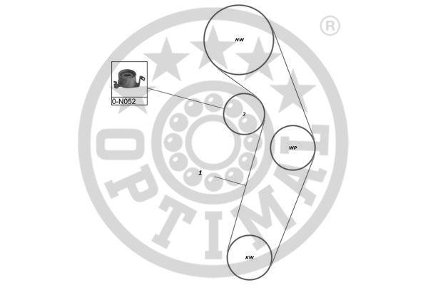 Kit de distribution - OPTIMAL - SK-1314