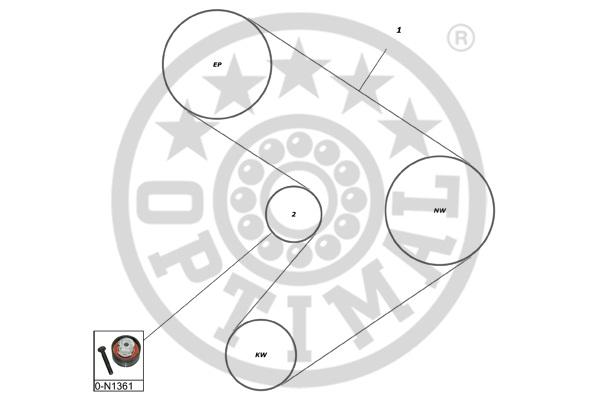 Kit de distribution - OPTIMAL - SK-1351